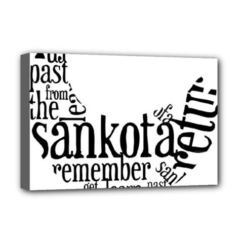 Sankofashirt Deluxe Canvas 18  x 12  (Framed)