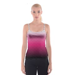 Pink Gradient Mosaic All Over Print Spaghetti Strap Top