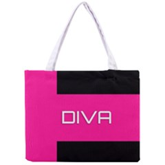 Diva Hot Pink All Over Print Tiny Tote Bag