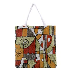 Multicolored Abstract Tribal Print All Over Print Grocery Tote Bag