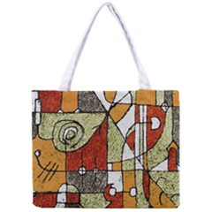 Multicolored Abstract Tribal Print All Over Print Tiny Tote Bag