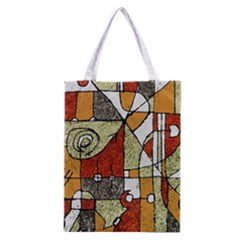 Multicolored Abstract Tribal Print All Over Print Classic Tote Bag