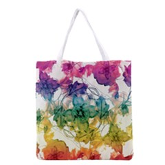 Multicolored Floral Swirls Decorative Design All Over Print Grocery Tote Bag