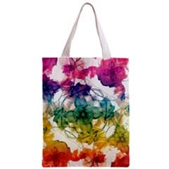 Multicolored Floral Swirls Decorative Design All Over Print Classic Tote Bag