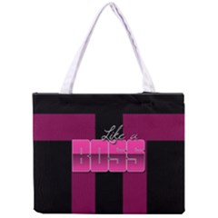 Like A Boss Shiny Pink All Over Print Tiny Tote Bag