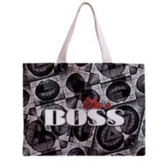 Like A Boss Blk&wht All Over Print Tiny Tote Bag