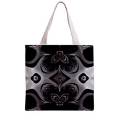 Crazy Black&white Fractal All Over Print Grocery Tote Bag