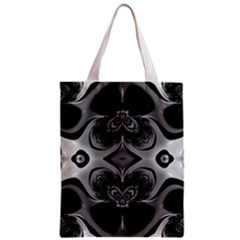 Crazy Black&white Fractal All Over Print Classic Tote Bag