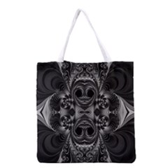 Blackened  All Over Print Grocery Tote Bag