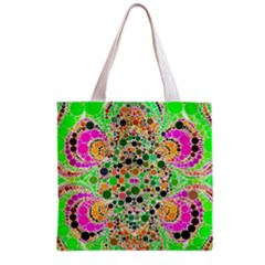 Florescent Abstract  All Over Print Grocery Tote Bag