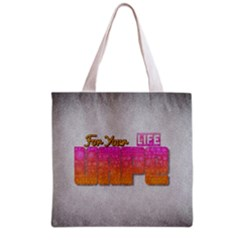 Vape For Your Life Abstract  All Over Print Grocery Tote Bag