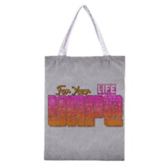 Vape For Your Life Abstract  All Over Print Classic Tote Bag