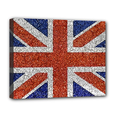 England Flag Grunge Style Print Deluxe Canvas 20  x 16  (Framed)