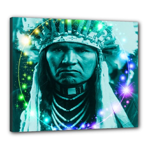 Magical Indian Chief Canvas 24  X 20  (framed)