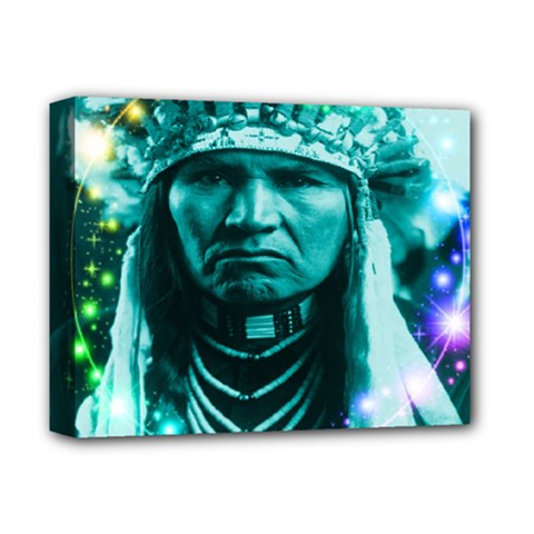 Magical Indian Chief Deluxe Canvas 14  X 11  (framed)