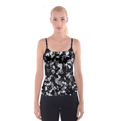 Shades Of Gray  And Black Oils #1979 All Over Print Spaghetti Strap Top