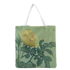 Yellow Rose Vintage Style  All Over Print Grocery Tote Bag