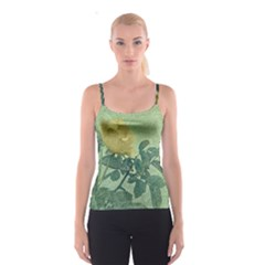 Yellow Rose Vintage Style  All Over Print Spaghetti Strap Top