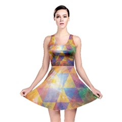 Space Design All Over Print Reversible Skater Dress