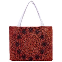 Grunge Style Geometric Mandala All Over Print Tiny Tote Bag