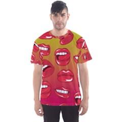 Hot Lips All Over Print Sport T-Shirt (Men)