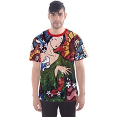 Geisha All Over Print Sport T-Shirt (Men)