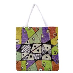 Multicolored Tribal Print Abstract Art All Over Print Grocery Tote Bag