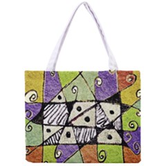 Multicolored Tribal Print Abstract Art All Over Print Tiny Tote Bag