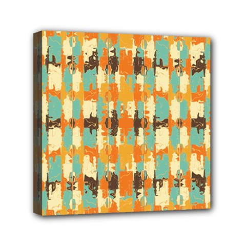 Shredded Abstract Background Mini Canvas 6  X 6  (stretched)