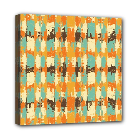 Shredded Abstract Background Mini Canvas 8  X 8  (stretched)