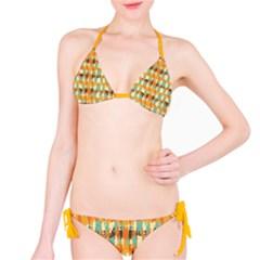 Shredded Abstract Background Bikini