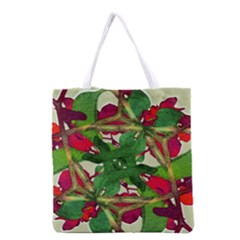Floral Print Colorful Pattern All Over Print Grocery Tote Bag