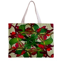 Floral Print Colorful Pattern All Over Print Tiny Tote Bag