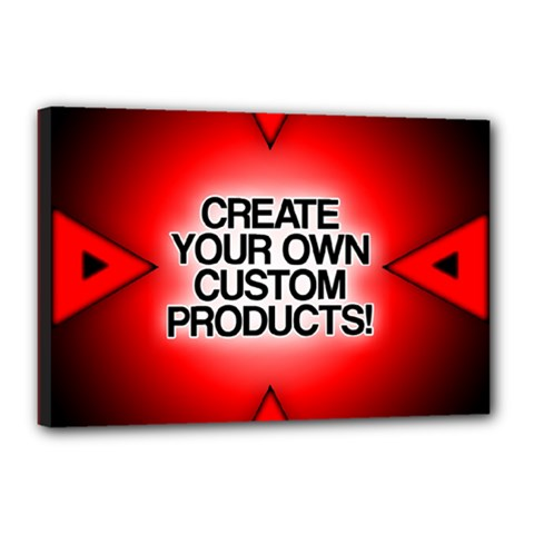 Create Your Own Custom Products And Gifts Canvas 18  X 12  (framed)