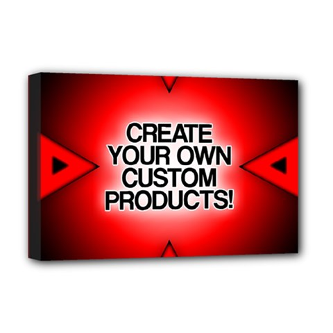 Create Your Own Custom Products And Gifts Deluxe Canvas 18  X 12  (framed)