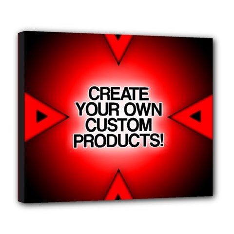 Create Your Own Custom Products And Gifts Deluxe Canvas 24  X 20  (framed)