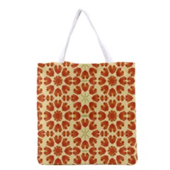 Colorful Floral Print Vector Style All Over Print Grocery Tote Bag