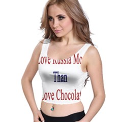 I Love Russia More Than I Love Chocolate All Over Print Crop Top