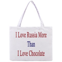 I Love Russia More Than I Love Chocolate All Over Print Tiny Tote Bag