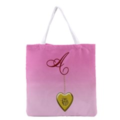A Golden Rose Heart Locket All Over Print Grocery Tote Bag