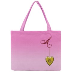 A Golden Rose Heart Locket All Over Print Tiny Tote Bag
