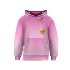 A Golden Rose Heart Locket Kids Hoodie
