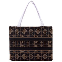 Dark Geometric Abstract Pattern All Over Print Tiny Tote Bag