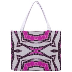 Pink Black Zebra  All Over Print Tiny Tote Bag