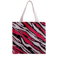 Red Zebra Bling  All Over Print Grocery Tote Bag