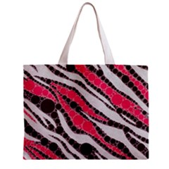 Red Zebra Bling  All Over Print Tiny Tote Bag