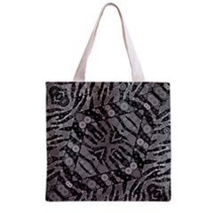 Silver Zebra  All Over Print Grocery Tote Bag