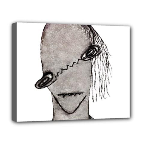 Vampire Monster Illustration Deluxe Canvas 20  X 16  (framed)