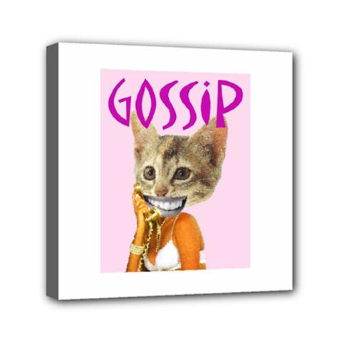 Gossip Mini Canvas 6  x 6  (Framed)