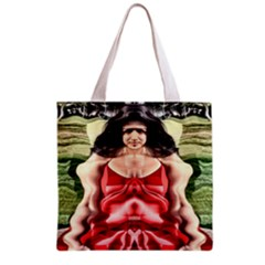 Cubist Woman All Over Print Grocery Tote Bag